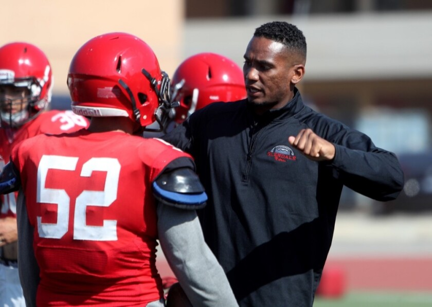 Cary Harris, selected 183rd overall in the 2009 NFL draft out of USC, is the new football coach at Calabasas. He coached last season at Glendale HS.