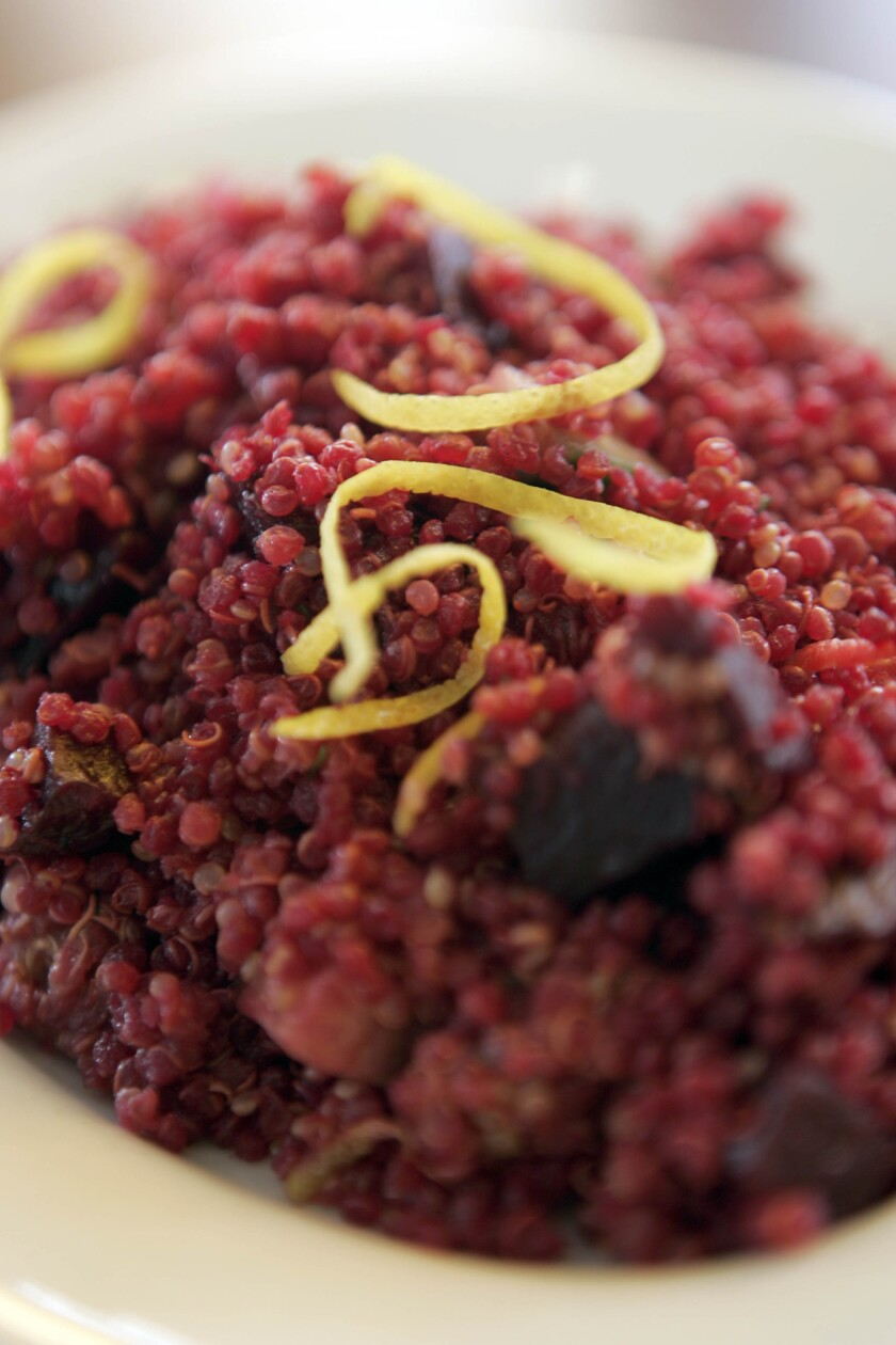 The quinoa salad on the menu at M Cafe. Recipe