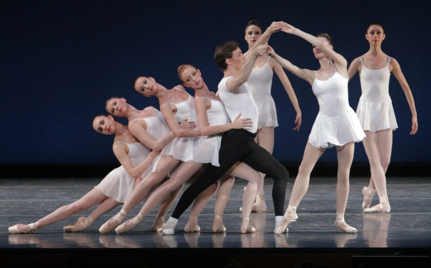 Los Angeles Ballet salutes choreographer George Balanchine in performances at the Broad Stage this week.