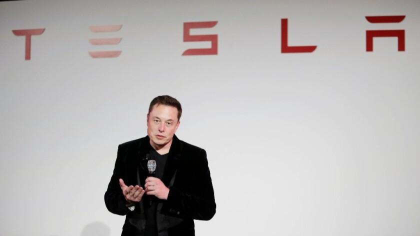 "Tesla Motors CEO Elon Musk, shown in 2015, said last week was ""one of the worst weeks ever, really."""