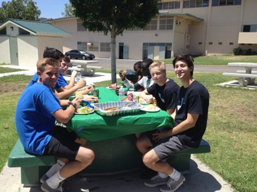 TVIA members enjoy a sunny day and lunch with members of the Sudanese American Youth Center of San Diego