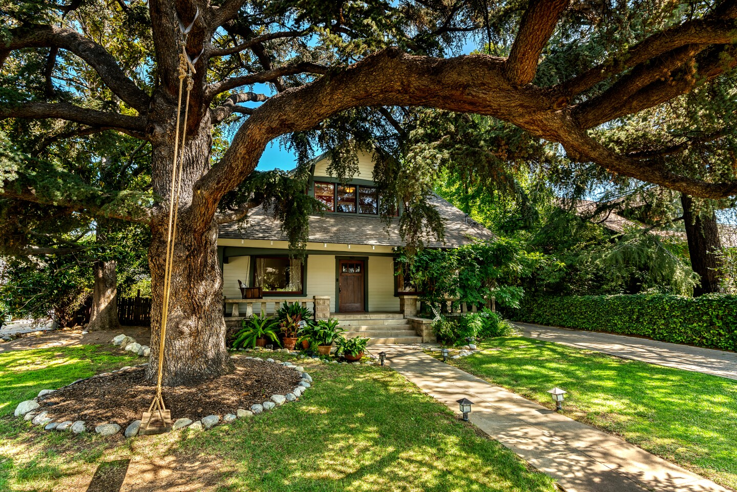 The Craftsman-style home in Pasadena's Historic Highlands area was assembled from a kit in 1909.