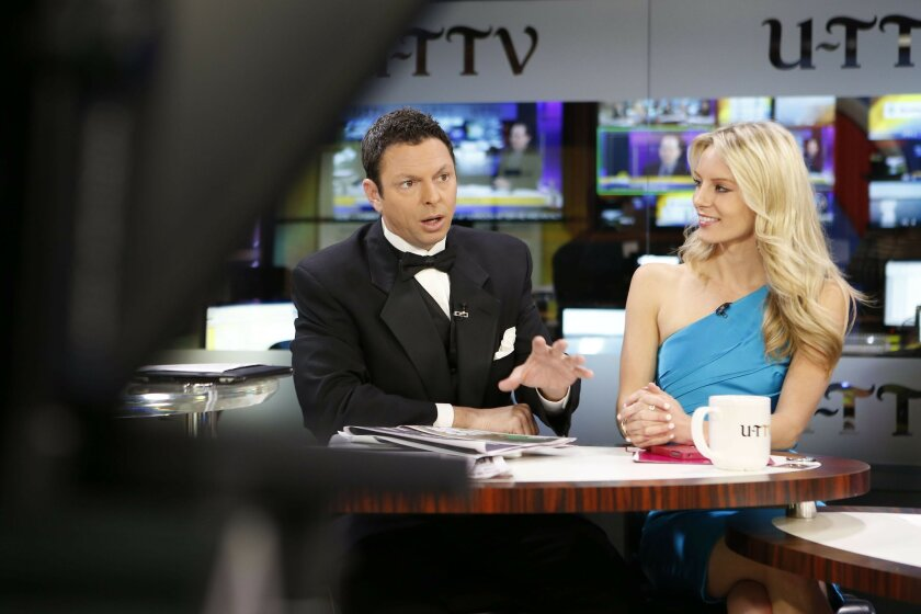 FrontPage with Scott & Amber. (LtoR) Scott Kaplan and Amber Mesker doing a segment on the Oscars.
