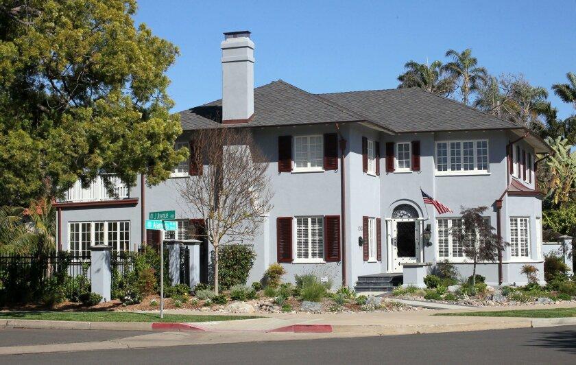 A home at 1003 Alameda Blvd., Coronado, in March 2016.