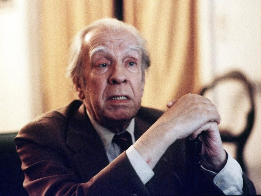 "Jorge Luis Borges, photographed in his Buenos Aires apartment in 1981. Borges' 1941 short story ""The Library of Babel"" is the inspiration for a new website."