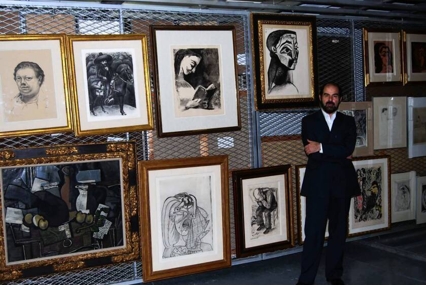 Director Habibollah Sadeghi shows the Tehran Museum of Contemporary Art's collection of Western art, which includes works by Picasso, Van Gogh and Chagall. The museum also owns works by leading Modern and Pop artists.