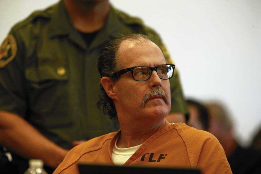 Confessed mass shooter Scott Dekraai appears during a court hearing in Orange County.