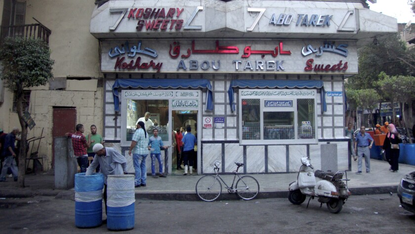 The popular Koshary Abou Tarek in downtown Cairo.