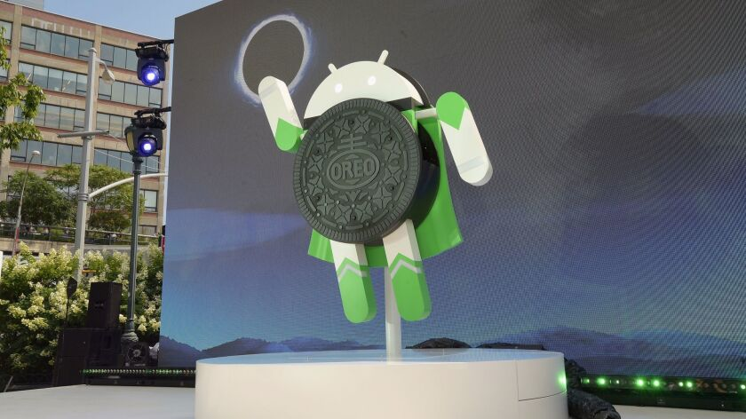 Google and Oreo show off their partnership during the solar eclipse in Manhattan.