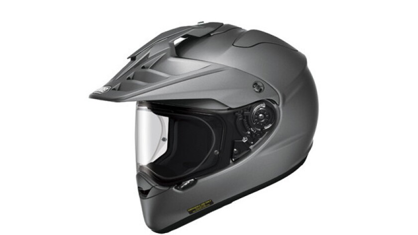 """Gear manufacturers have been quick to market with specialized """"adventure"""" riding equipment, such as this Hornet X2 helmet from Shoei."""