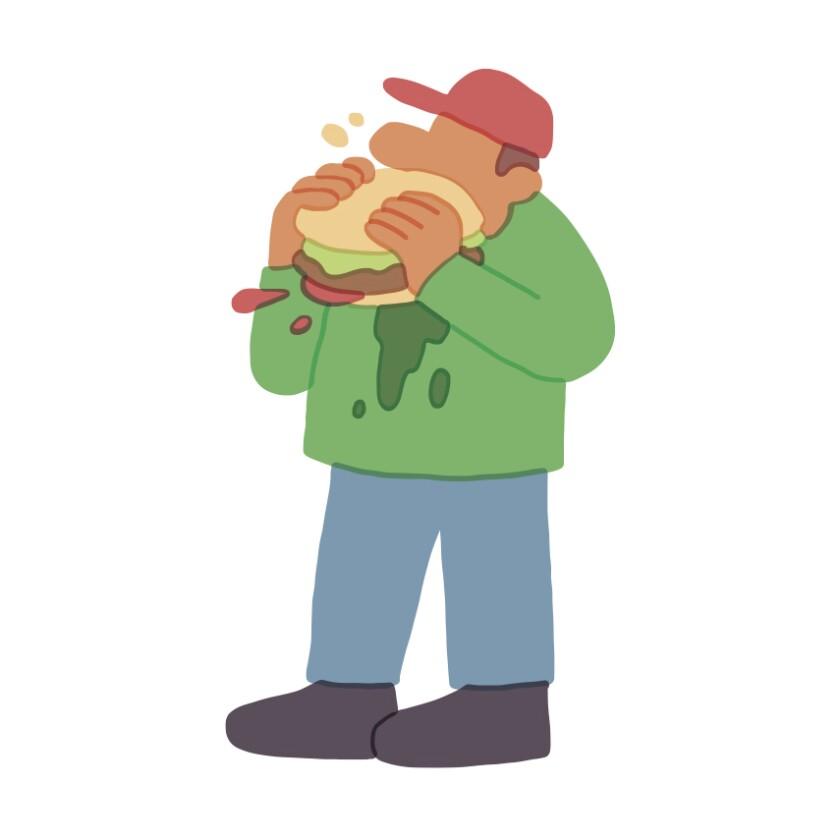 festival industrial man eating