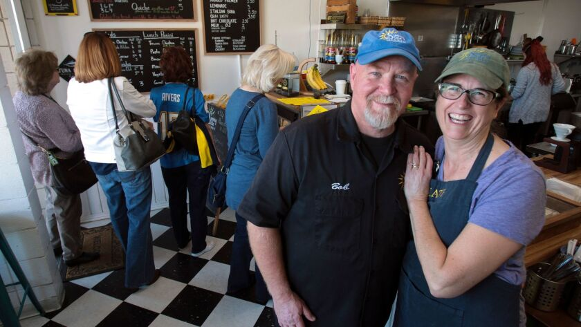 ESCONDIDO, February 1, 2017 | Bob and Kate Carpenter in their small breakfast and lunch cafe called
