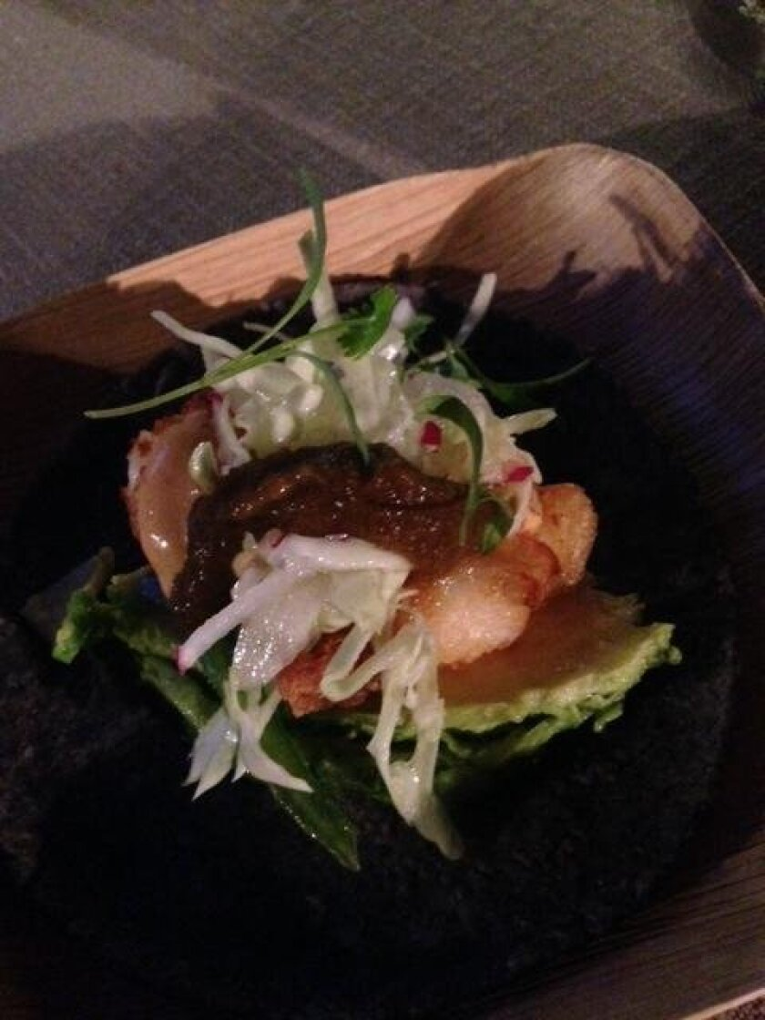 Sustainable seafood taco