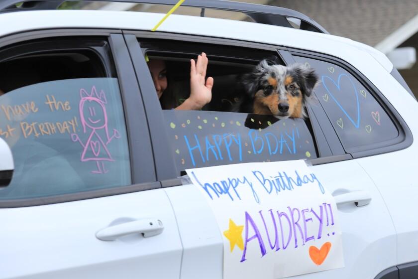 Drive-by birthday celebration