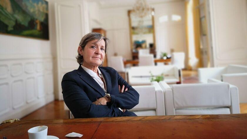 LOURDES, France Ð JUNE 18, 2019: Mayor Josette Bourdeu inherited a city in crisis over the drop in p