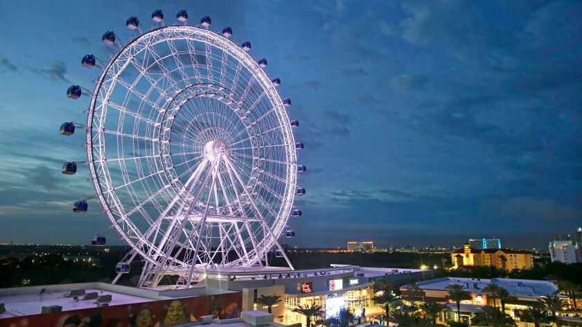 This April 29, 2015 photo shows the Orlando Eye, the city's new 400-foot observation wheel in Orland