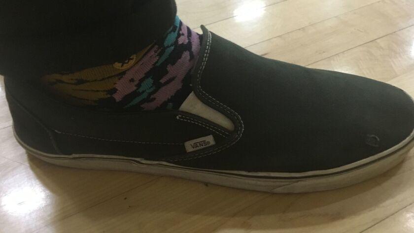 Ezekiel Richards' size 16 shoe