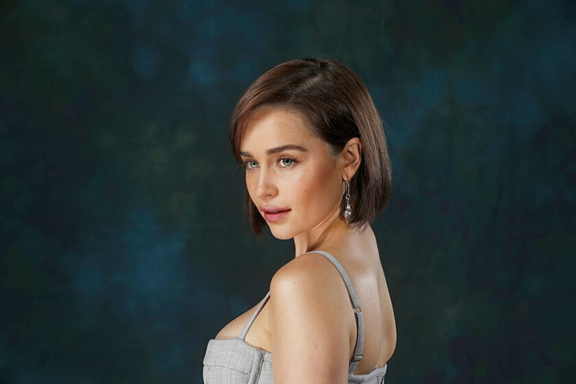 "Emilia Clarke talks about going from ""a naive, frightened creature to a dictator with genocidal tendencies. ... That's a pretty big arc."""
