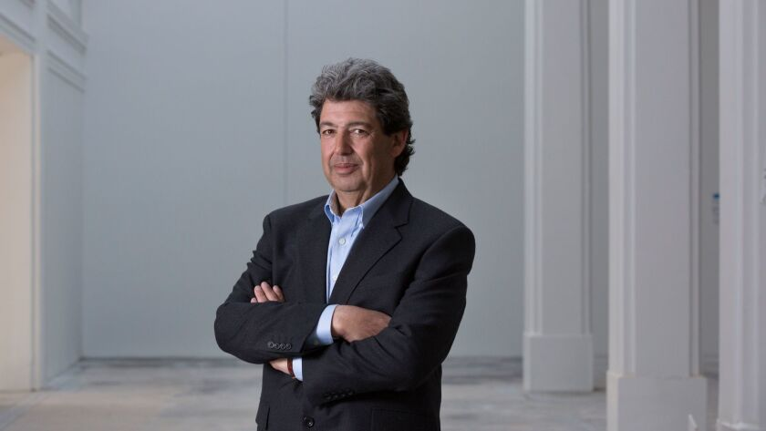 Paul Schimmel at the Hauser, Wirth & Schimmel gallery space in downtown Los Angeles prior to opening in early 2016.