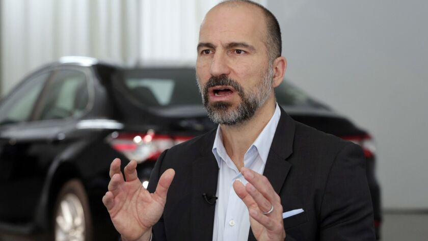 Uber CEO Dara Khosrowshahi is shown in Sept. 5, 2018.
