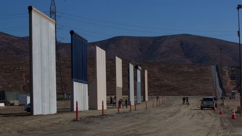 White House: No Trump visit to San Diego to see wall prototypes scheduled yet