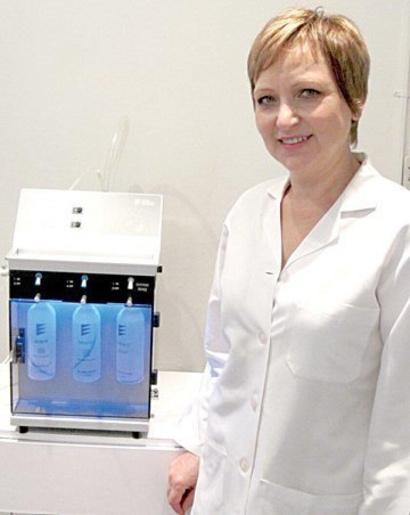 Irina Skylar with the HydraFacial machine. Photo: Courtesy