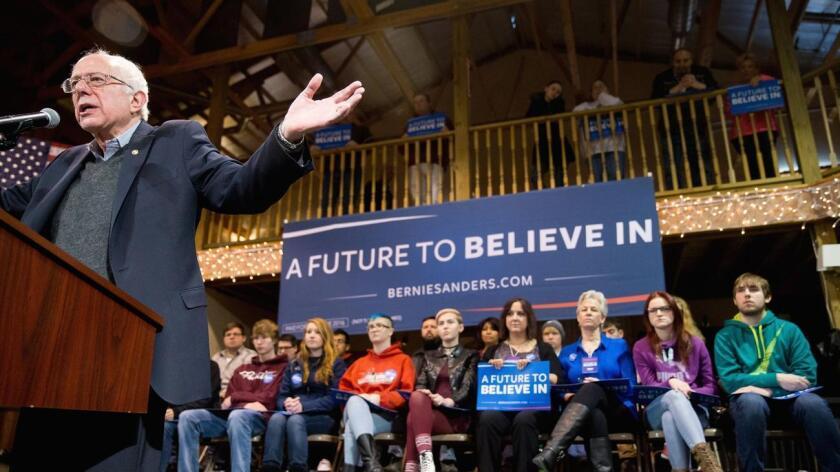 Foto de archivo. El arrastre de Bernie Sanders con los joven es no solo es en Nevada, a nivel nacional, la mayoría de los milenios ven al candidato socialdemócrata con buenos ojos.