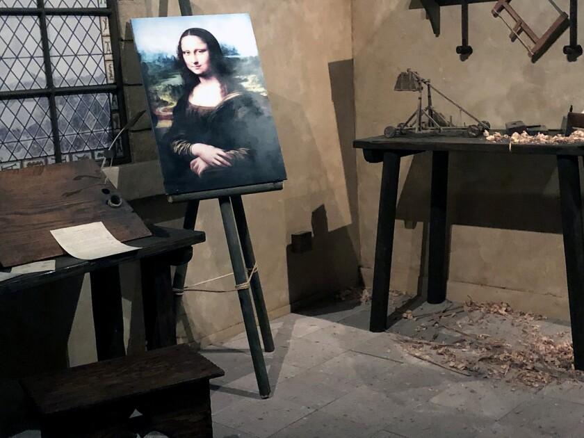 Replica of Da Vinci's studio at Reagan Library