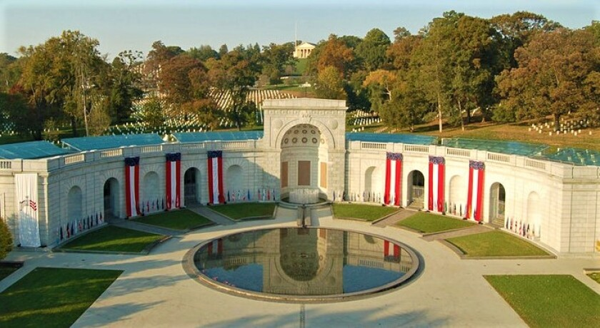 The Military Women's Memorial, next to Arlington National Cemetery, was dedicated in 1997.