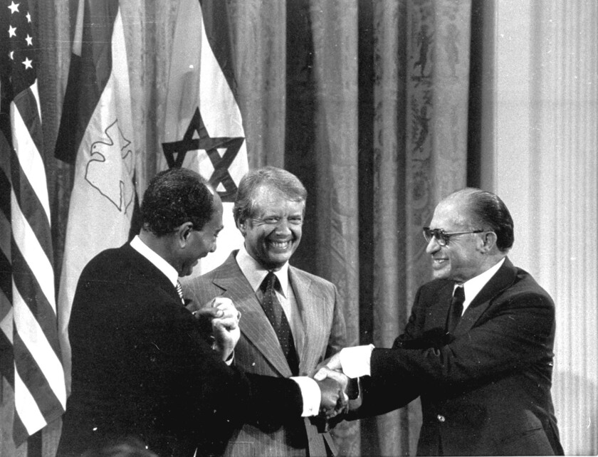 Anwar Sadat, Jimmy Carter, Menachem Begin