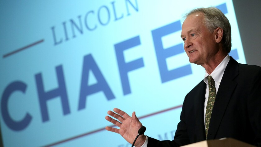 Sen. Lincoln Chafee Enters Presidential Race