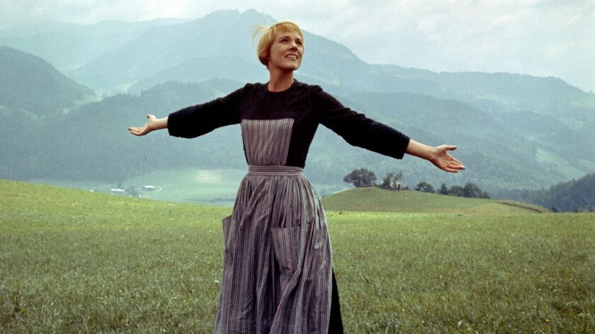"Julie Andrews as Maria in ""The Sound of Music."""