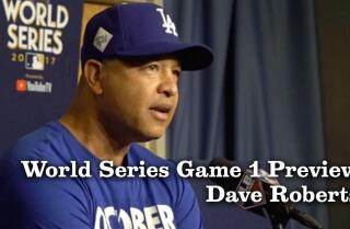 Dave Roberts on the World Series roster and taking a moment