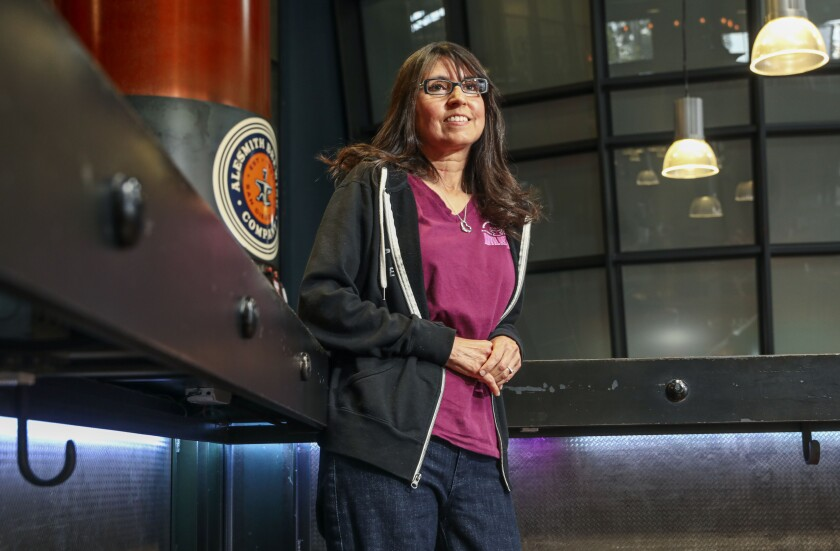 Vicky Zien, President and CEO of Anvil of Hope, the nonprofit wing of AleSmith Brewing Company