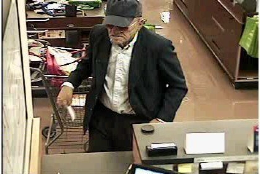 "The man dubbed the ""Geezer Bandit"" used a pistol to rob a Poway bank earlier in June."