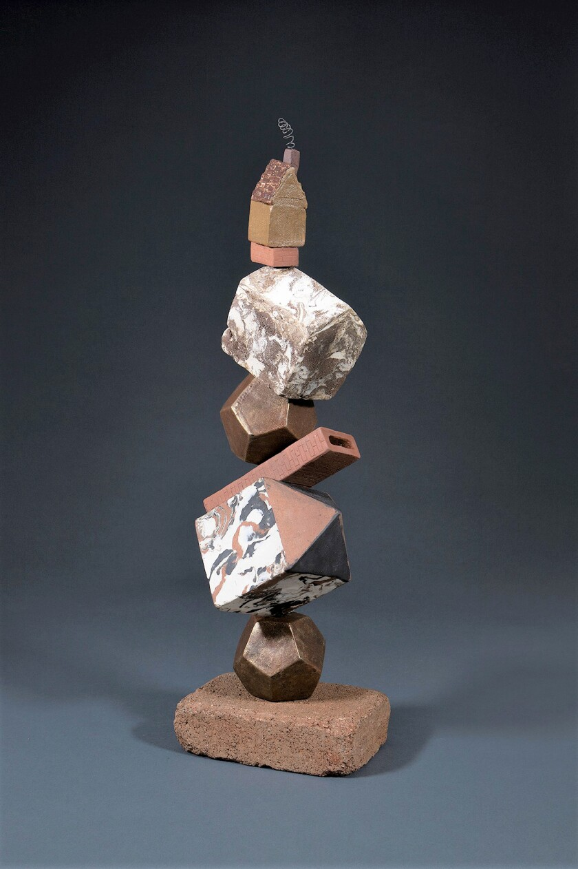 """""""Topsy Turvy,"""" by Beverly Jacobs on view at """"The Anthropocene Epiphany"""" exhibit."""