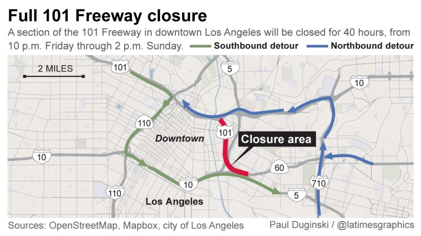 101 Freeway closure