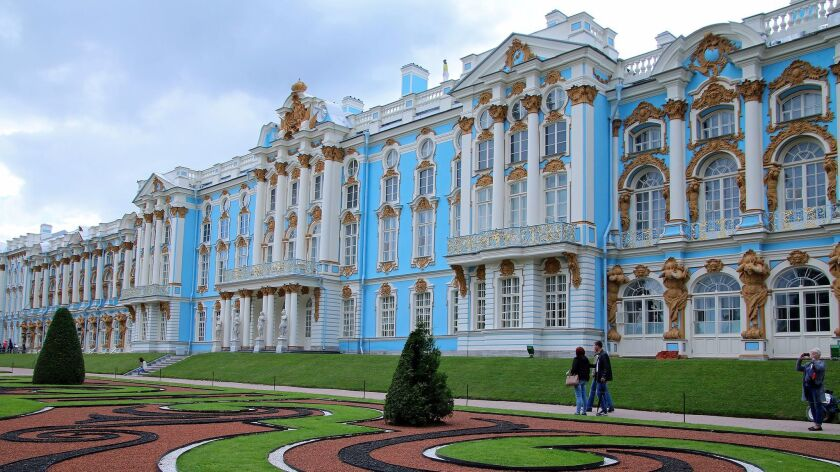 Catherine Palace, outside of St. Petersburg, was the Summer Palace of the czars and ravaged by the N