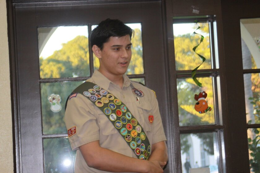La Jolla Boy Scout Luka Stojic airs concern over the abrupt reduction in speed limit on Muirlands Vista Way.