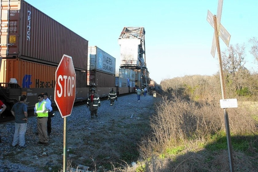 """The site of the February train accident in Wayne County, Ga., that killed camera assistant Sarah Jones on the set of """"Midnight RIder."""""""