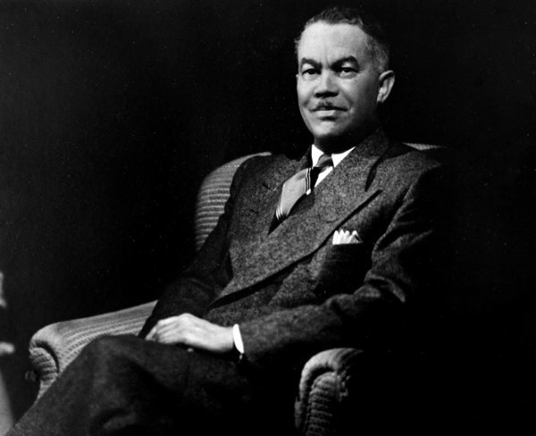 A framed photograph of the late Paul Revere Williams, an early architect to the stars, sits inside the home of his granddaughter Karen Hudson. Williams had designed the house and lived in it.