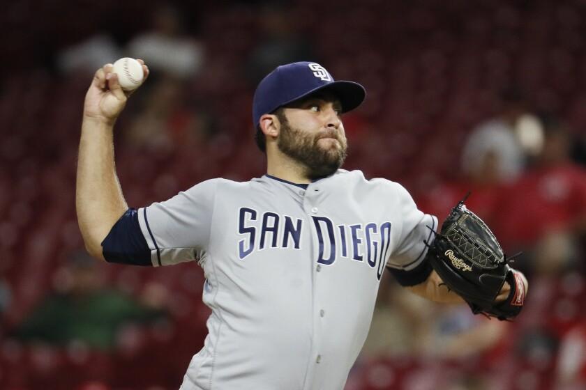 Padres starting pitcher Brett Kennedy