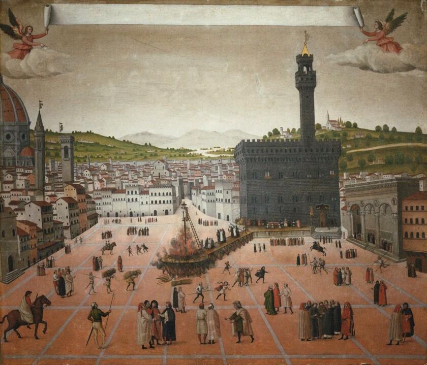 Girolamo Savonarolas Execution On The Piazza Della Signoria In Florence In 1498,