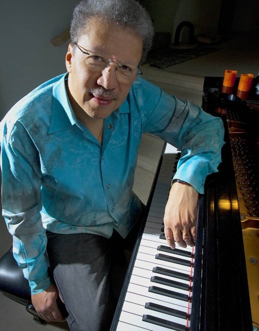 Composer, pianist and UCSD professor Anthony Davis at his home. Davis will perform at his 60th birthday concert in San Diego.