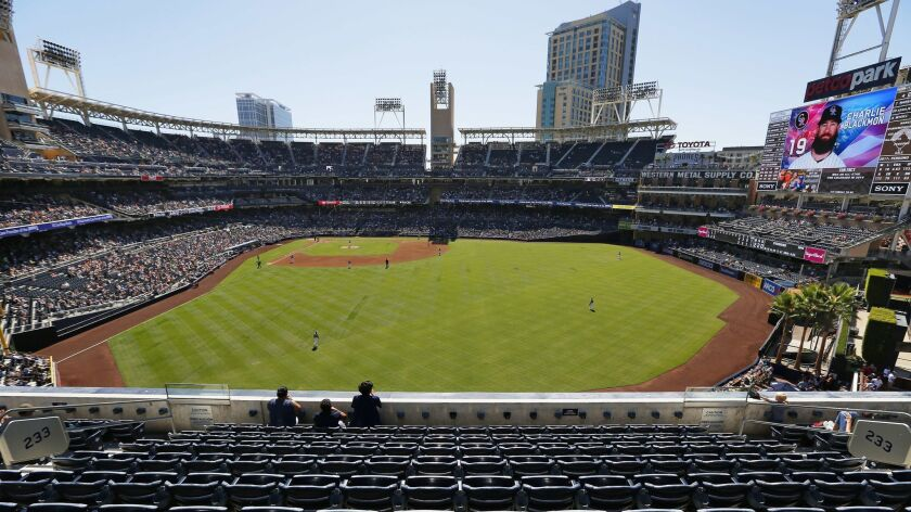 Petco Park, shown on the day of the final home game of 2017.