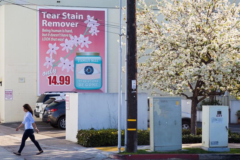 """Murals of La Jolla: Jean Lowe's """"Tear Stains Be Gone."""""""