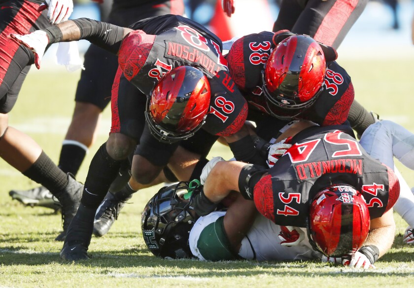 San Diego State was not picked for first or second place in the MW for the first time in the divisional format.