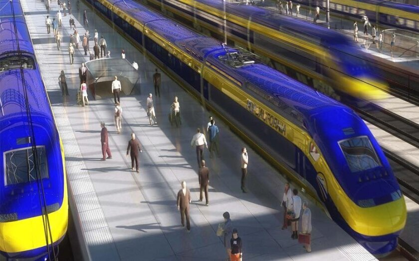 Rendering from the California High-Speed Rail Authority