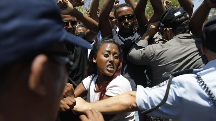 ISRAEL-RIGHTS-DEMO-RACISM-POLICE
