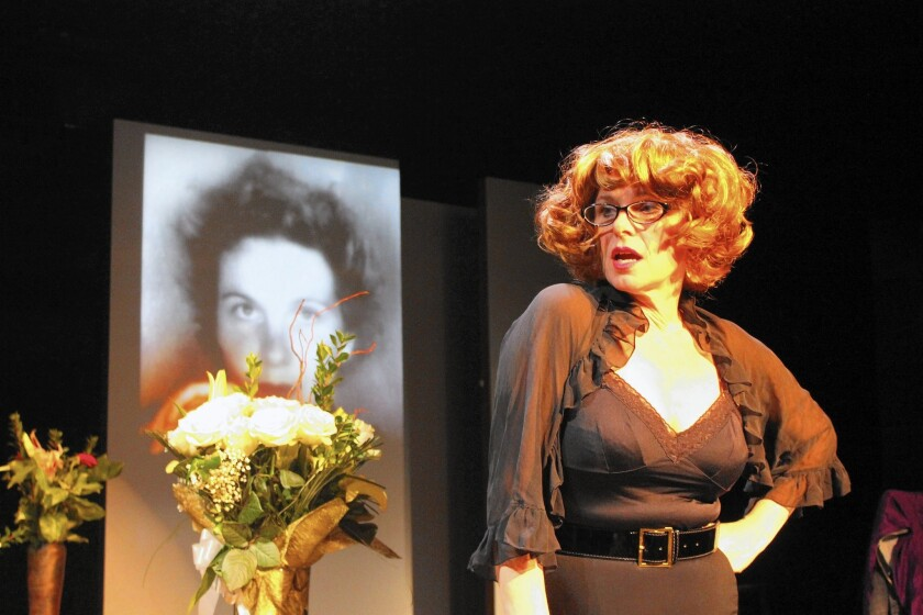 """Angelica Page performs """"Turning Page,"""" her one-woman show about her award-winning actress mother, Geraldine Page."""